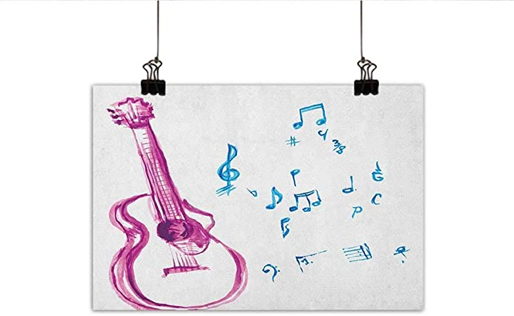 Guitarra Decoración de Pared Póster Pintura Sketch Arte Estilo Instrumento y acordes acústico Flamenco Technique Habilidad Talento Decoraciones Home Decor 20