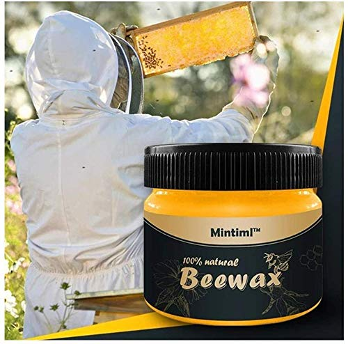AZ.BNC Natural Wood Seasoning Beeswax Complete Solution Furniture Care Beeswax Home Cleaning Cleaner and Protector Wax. Renew Cutting Boards, Woods, Bamboo, Wooden Surfaces - (1 Pcs)