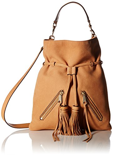 Rebecca Minkoff Large Moto Drawstring Crossbody, Almond