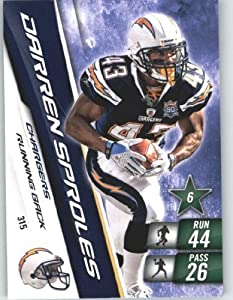 2010 Panini Adrenalyn XL NFL Trading Card #315 Darren Sproles - San Diego Chargers - NFL Trading Card