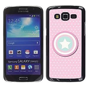 Design for Girls Plastic Cover Case FOR Samsung Galaxy Grand 2 Captain Polka Dot America Shield Star OBBA