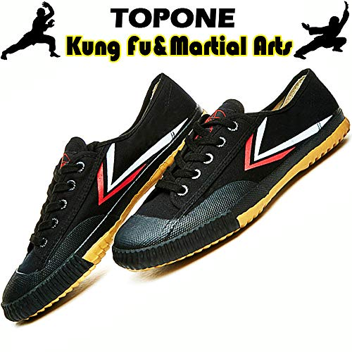 T.O.P ONE Kung Fu Martial Arts Parkour Shoes,Rubber Sole Sneakers