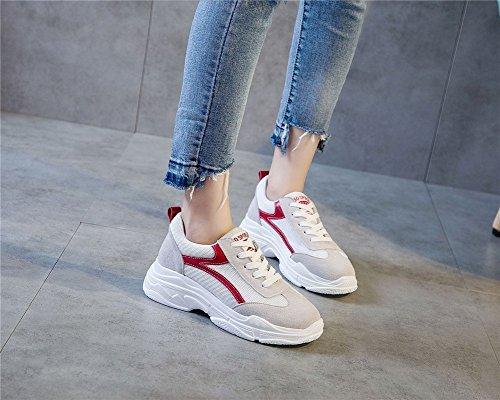 Corsa Distanza Sprint In Donna Exing Nuove Piatte Lunga Per Scarpe Comode Traspirante Rete A Sneakers A Casual Scarpe Da 37 TpSnTzaO