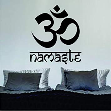 Czxmp Om Namaste Design Yoga Mandala Vinilo Tatuajes De Pared ...