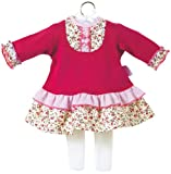 : Corolle Classic Baby Doll 14-inch Fashion Flounce Dress & Tight Set