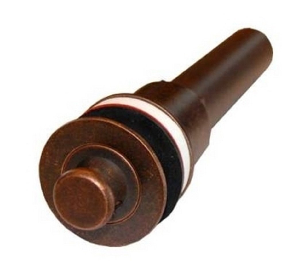 1-1/2'' Aged Copper Lift n Turn Drain for Bath Sinks without Overflow