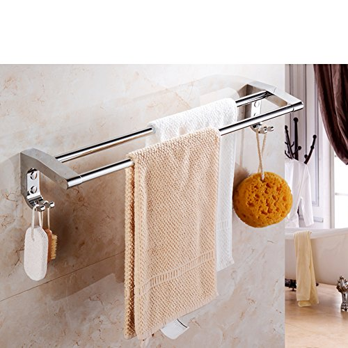 50%OFF The bathroom Towel rack/Stainless steel towel rack double pole/Bathroom Towel Bar/toilet/bathroom accessories-I
