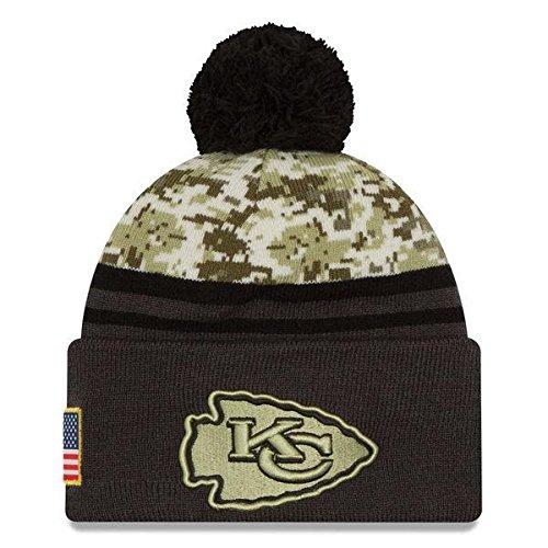 New Era 2016 Men's Salute to Service Knit Hat (One Size, Kansas City Chiefs) (New Era Chiefs Beanie)