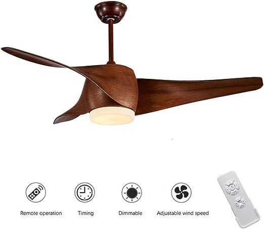 18W LED Ventilador De Techo con Luz con Mando a Distancia ...