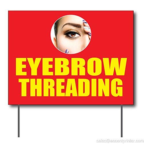 Eyebrow Threading Curbside Sign, 24