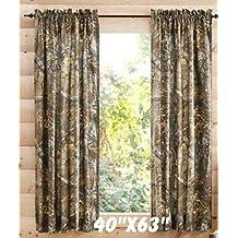 """Realtree Xtra Camo 40""""x 63"""" Curtain Panel, Set of 2"""