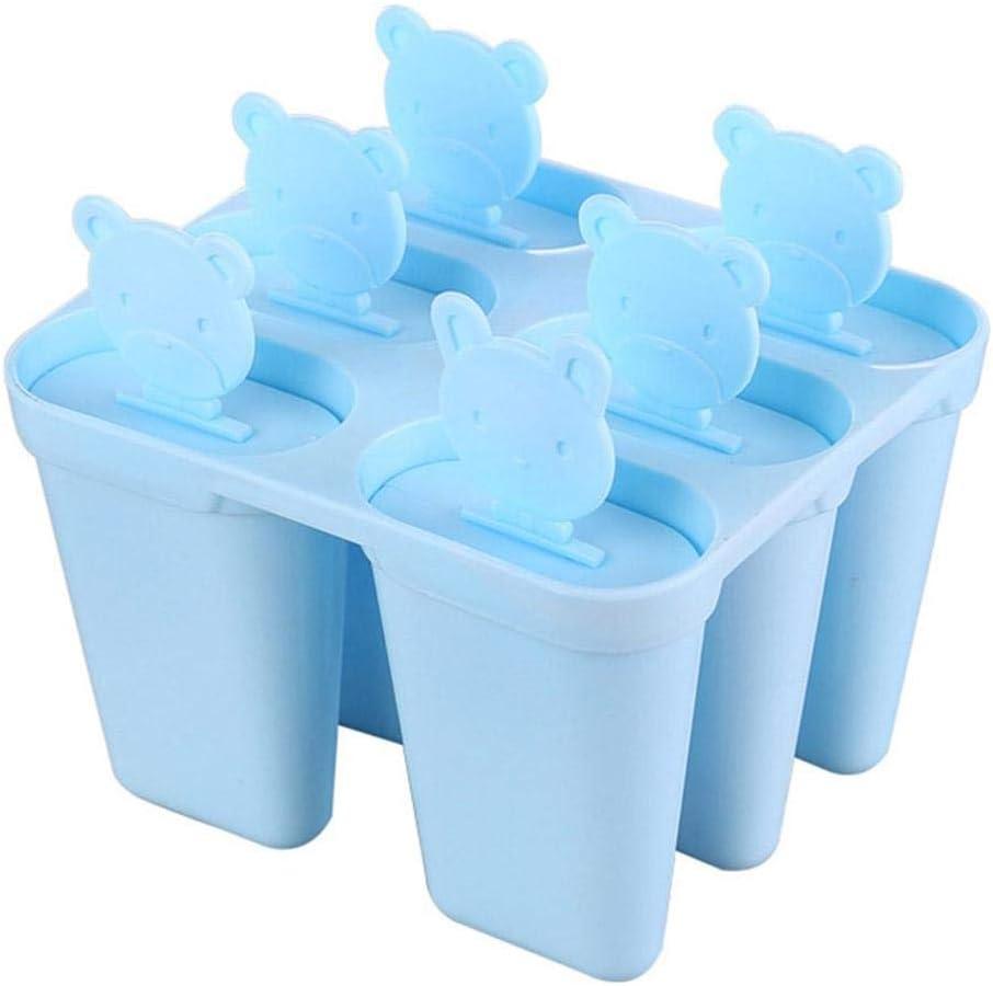 Azul Wifehelper Moldes para Hacer Estallido de Hielo Forma de Oso 6 Cuadr/ículas Reutilizable Cl/ásico Juego de Hacer Moldes para Hacer Estallido de Hielo Moldes de Paletas de Pl/ástico Fabricante
