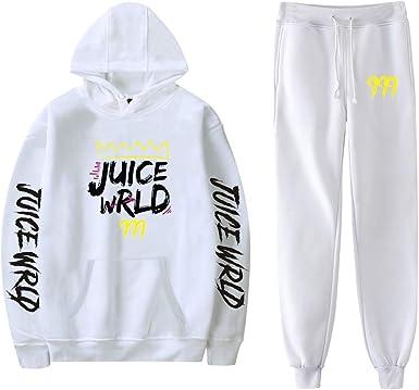 Aibayleef Juice WRLD Conjunto Dos Piezas Completo Capucha Sudadera Blusa y Pantalon para Mujer Hombre Chandal Gimnasio Sportwear Tracksuit C04173-WY02+KZ03-2-XXXXL: Amazon.es: Ropa y accesorios