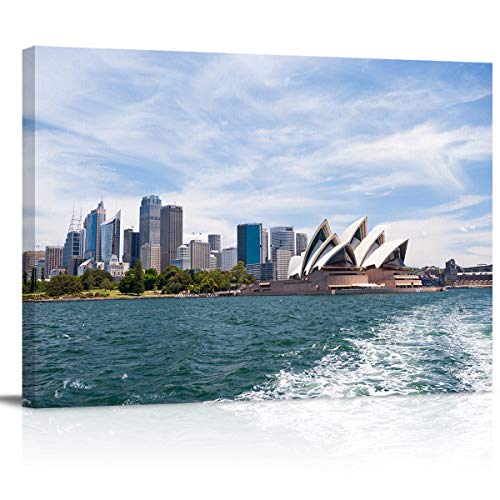 (WallArtCanvasPrints Poster for HomeDecor Sydney Opera House Oil Painting Pictures Artwork for Living Room Bedroom Hall Hotel)