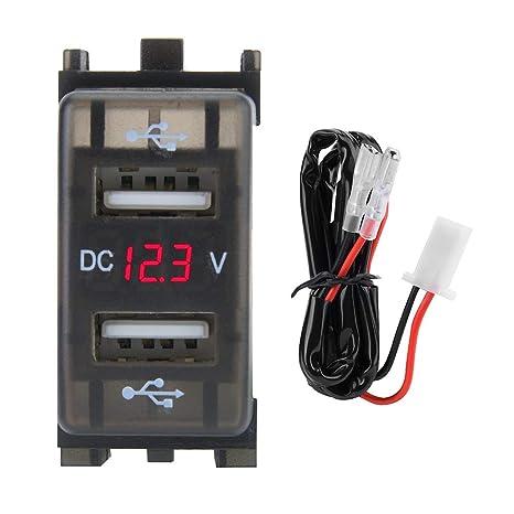 4.2a adattatore doppio voltmetro per presa per caricabatteria usb per auto