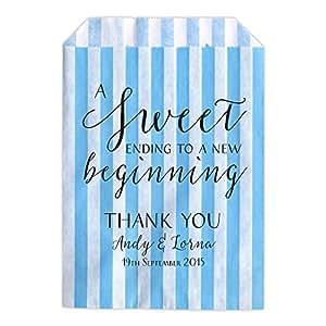 Bolsas de golosinas y confeti personalizadas para bodas con la frase Swrily Sweet Ending: Amazon.es: Hogar