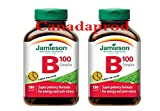 Jamieson Vitamin B100 Complex Timed Release 180caplets x 2(2 bottles)