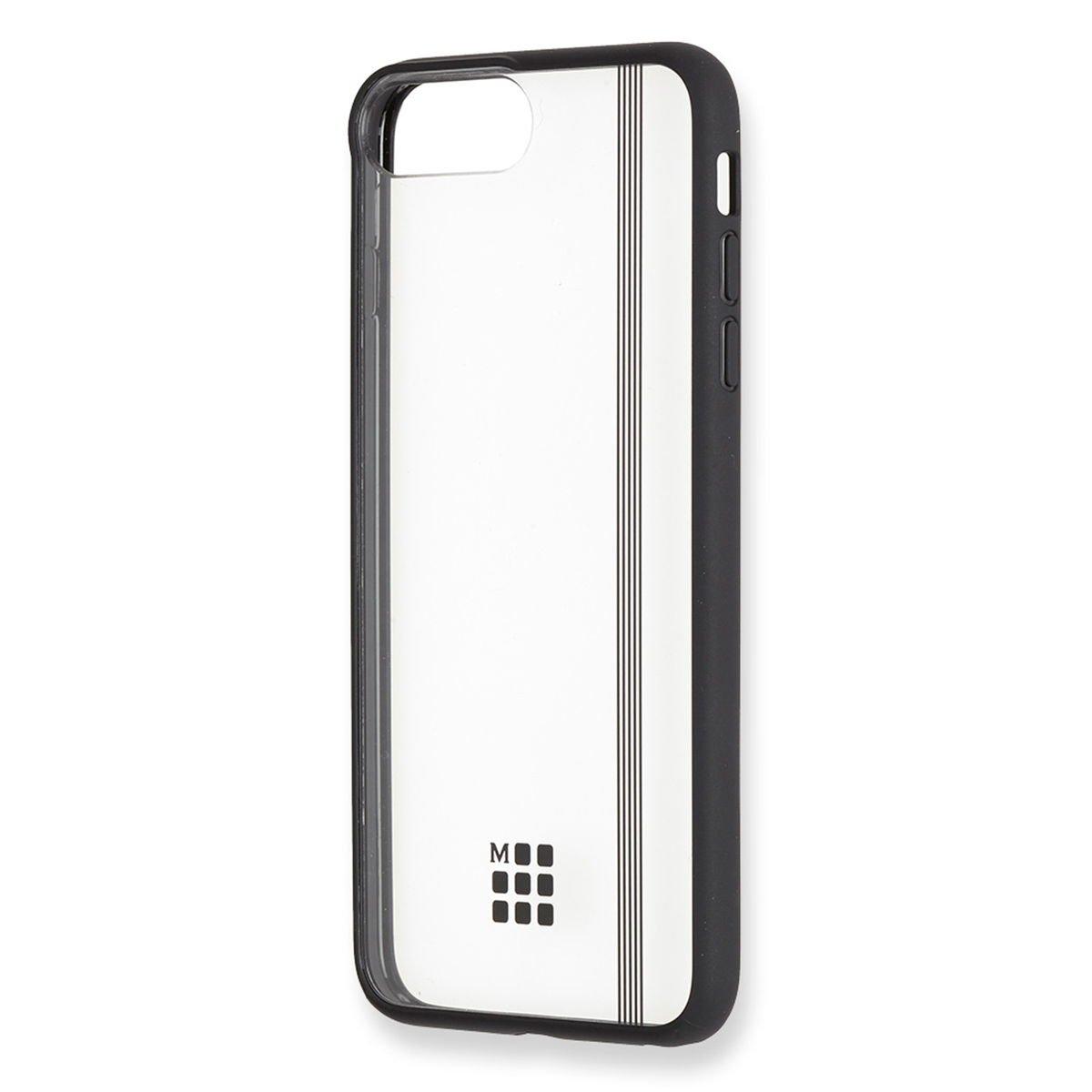 Moleskine MO2HP7LEBK iPhone Coque rigide transparente pour iPhone 6 Plus/6s Plus/7Plus/8 Plus - Élastique noir Transparent - Black 8058341710623 Musique - danse
