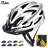 JBM international JBM Adult Cycling Bike Helmet Specialized for Mens Womens Safety Protection Red/Blue/Yellow (Silver, Adult)