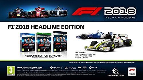 F1 2018 Headline Edition - PlayStation 4 [Importación inglesa ...