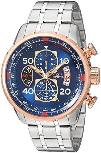 Invicta Men's Aviator 48mm Stainless Steel Chronograph Quartz Watch, Silver (Model: 17203) WeeklyReviewer