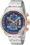 Image of Invicta Men's 17203 AVIATOR Stainless Steel and 18k Rose Gold Ion-Plated Watch