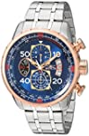 Invicta Men s 17203 AVIATOR Stainless Steel and 18k Rose Gold Ion Plated Watch