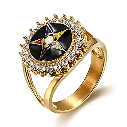 Amazon.com: Nattaphol Acero inoxidable oro OES masónicos ...