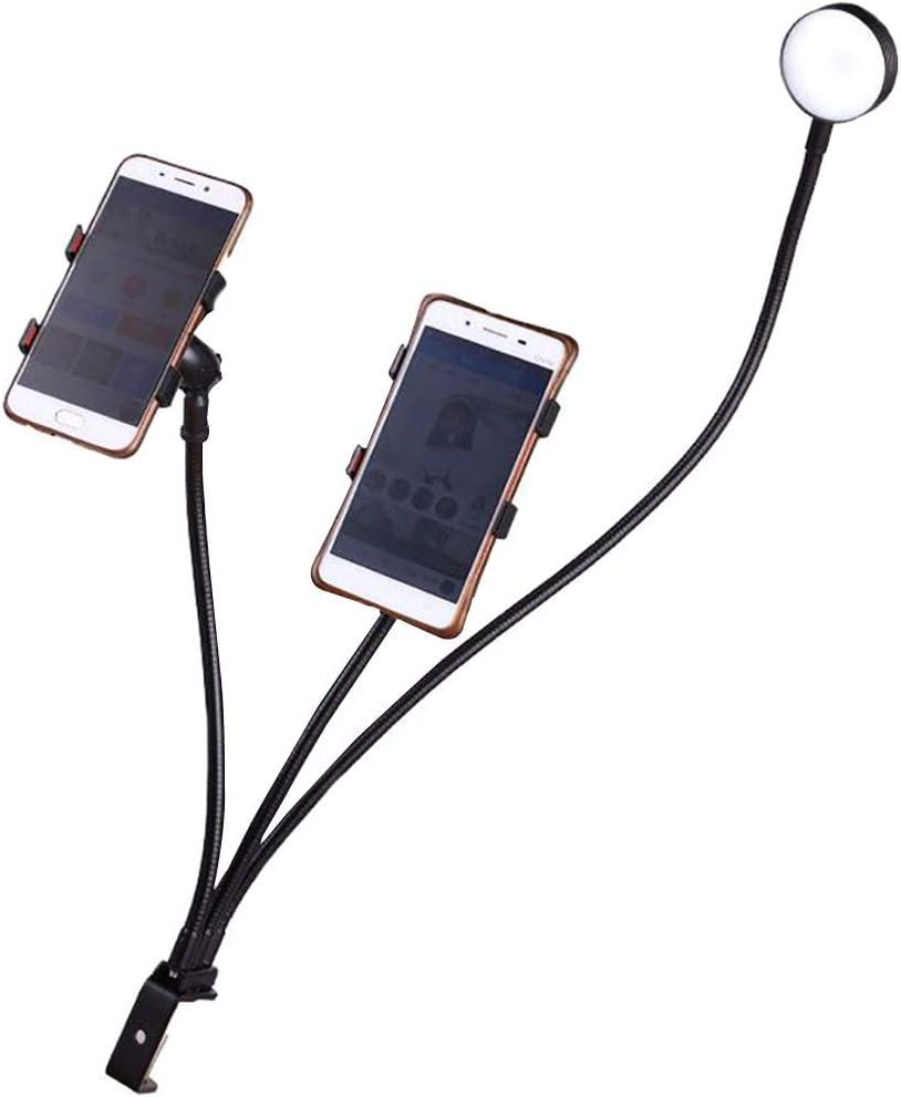 Self Portrait Peaceip US Ring Light Self-Timer Fill Light Dimmable Led Round Light Lighting Clip Dual Phone Holder For Youtube