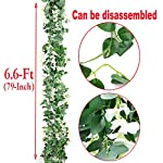 Artificial-Flowers-Silk-Wisteria-Vine-5pcs-66ftPiece-Ivy-Leaves-Garland-Wisteria-Artificial-Plants-Greenery-Fake-Hanging-Vines-Green-Leaf-Garland-for-Wedding-Kitchen-Home-Party-DecorWhite