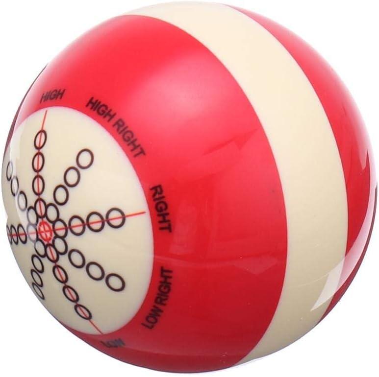 YWEHAPPY 1pcs Resina Roja Blanca Billar Spot Pool Snooker Práctica Entrenamiento Cue Bolas 6 O Z Deportes De Entretenimiento para Principiantes 57mm: Amazon.es: Deportes y aire libre