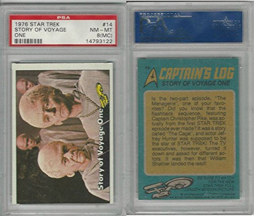 1976 Topps, Star Trek, #14 Story Of Voyage One, PSA 8 MC NMMT