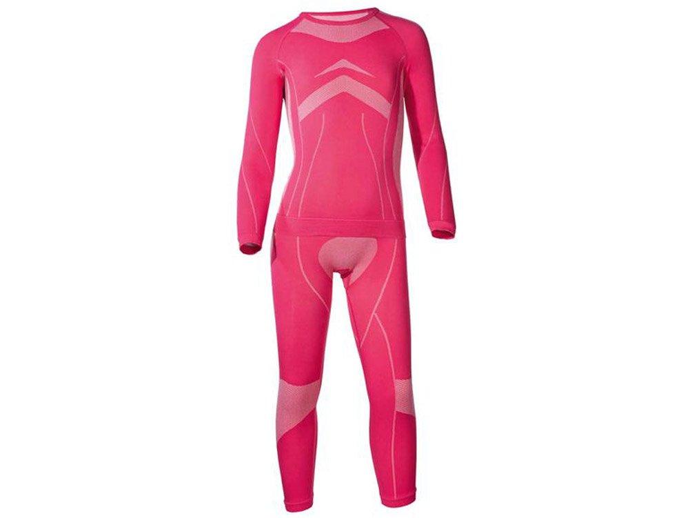 CRIVIT® SPORTS Kinder Mädchen Skiunterwäsche, 2-teilig (Pink, 146-152) 4406312195001