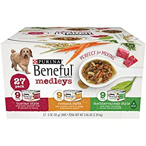 Purina Beneful Medleys Variety Pack Wet Dog Food, (54) 3 oz. Cans