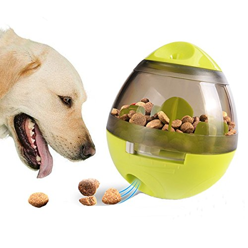 Australian Pet Foods - smartelf Dog Treat Dispenser Ball Toy,Pet Food Ball Puzzle Interactive Treat Ball for Dogs & Cats Small Medium Large Dogs Bowl Feeding,Increases IQ and MENTAL Stimulation(Green)