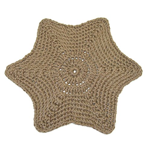 Jute Star Area Rug - Hand Crocheted from Natural Fiber - 28