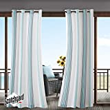 Blue Curtains for Living Room, Modern Contemporary Fabric Curtains for Bedroom, Newport Print Modern Window Curtains, 54X84, 1-Panel Pack
