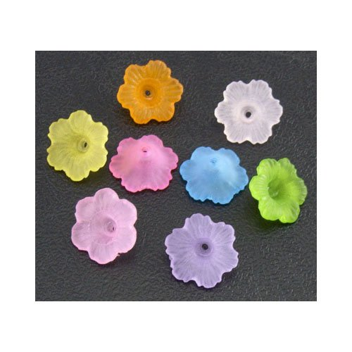 Packet 100+ Mixed Lucite 4.5 x 11mm Flower Beads HA25505 (Charming Beads) ()