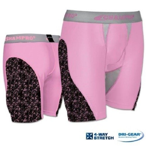 Champro Line Drive Womens Sliding Short, Pink Camo, Size ...