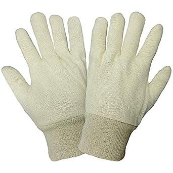 Mundial guante c80rj algodón/Poly Jersey Guante, trabajo, para hombre, blanco (caso de 300): Amazon.es: Amazon.es