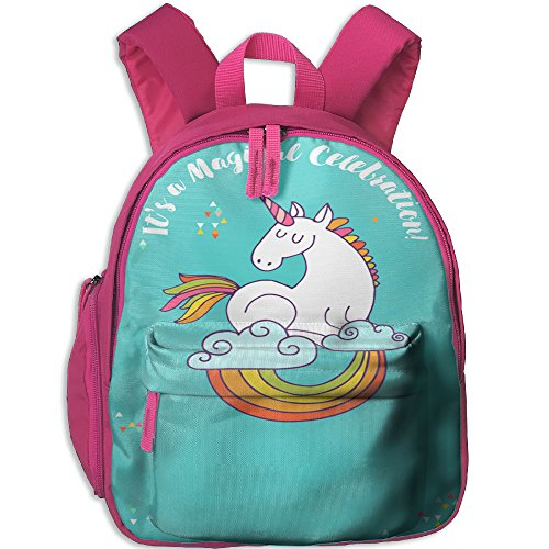 Little Girls Boys Cute Waterproof Kids Backpack With Adjustable Shoulder Straps Unicorn Horse Printed Snack Backpack Gift For Children In Pre School Or Kindergarten