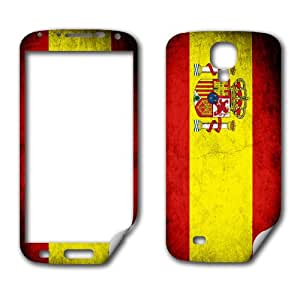 Skin (decal) for Samsung Galaxy S 4 - Flag of Spain - Rustic / Grunge design (Spanish)