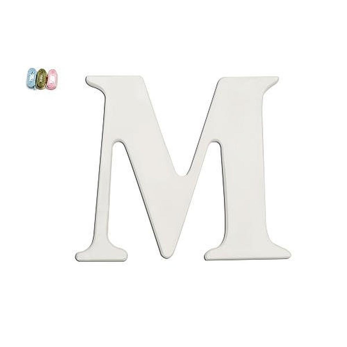 """Babies""""R""""Us M Wooden Personalizable Letter Wall Decor White"""