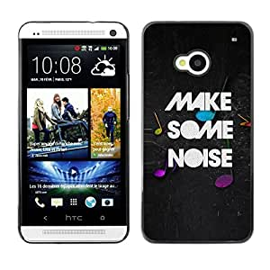 Stuss Case / Funda Carcasa protectora - Make Noise Quote Party Live Moment Music - HTC One M7