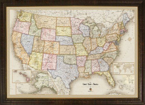 Homemagnetics MM3624USA Magnetic Travel Map of The USA, 39 by 27