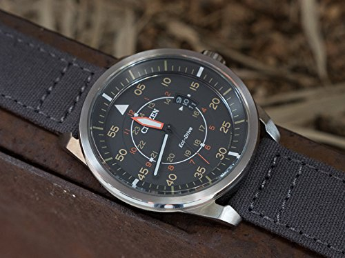 BARTON Canvas Quick Release Watch Band Straps - Choose Color & Width - 18mm, 20mm, 22mm - Smoke Grey 18mm