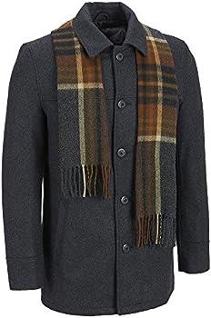 Black Rivet Mens Wool Single Breasted Coat
