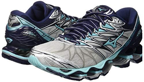 peacoat Running 7 silver Mujer Para Zapatillas De Prophecy aquasplash 31 Gris Mizuno Wave wqxTFEXcPE