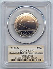 2020 S Commemorative Basketball Hall of Fame Enhanced Uncirculated Half Dollar SP-70 PCGS First Strike
