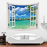 New Design Fake Window Home Decorative Wholesale Factory Custom Made Wall Tapestry